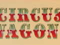 Circus Wagons Decorative Text