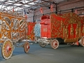 Barnum & Bailey Circus Cage No. 99 (left) and Great Britain Bandwagon No. 100 (right)