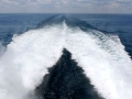 Lake Express Car Ferry - Wake at 40 mph on Lake Michigan