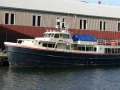 Isle Royale Queen II moored at Dee Stadium - Houghton, Michigan