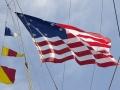 Fifteen-Star American Flag on Brig Niagara