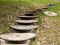 Wooden Stairsteps made from Cable Spools - Lac La Belle