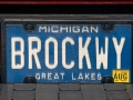 Brockway License Plate - Keweenaw County, Michigan
