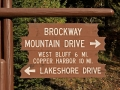 Brockway Mountain Drive Sign - M-26, Keweenaw County, Michigan