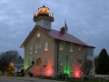 1860 Lightstation decorated for Christmas - Port Washington, WI