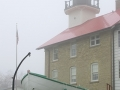 1860 Lightstation, foggy morning in early spring  - Port Washington, WI