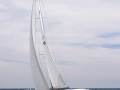 Sailing on Lake Michigan off Port Washington, Wisconsin