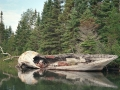 Abandoned boat in Chippewa Harbor