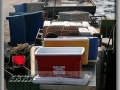 Coolers Lined Up on Dock