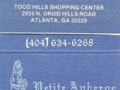 Petite Auberge Restaurant Francaia - Atlanta, GA