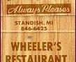 Wheeler's Restaurant - Standish, MI