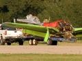 Fatal P-51 Crash - Hauling Away Wreckage