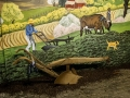 Farm Mural and Plow