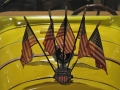 Small flags on a vintage vehicle at the Wisconsin Automotive Museum, Hartford, WI