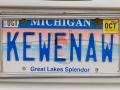 Keweenaw License Plate