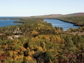 Brockway Mountain Drive overlooking Copper Harbor and Lake Fanny Hooe - Keweenaw County, Michigan