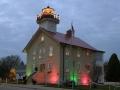 1860 Lightstation decorated for Christmas - Port Washington, WI