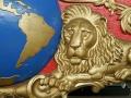 Two Hemispheres Bandwagon - Carving Detail