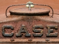 CASE logo on tractor radiator