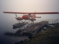 Float Plane at Dock Houghton - Fogged in